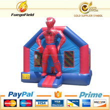 bright red inflatable spiderman