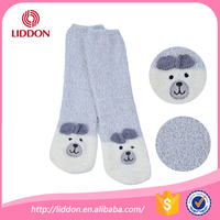 Babies kids winter footwear non slip dots terry slipper sock