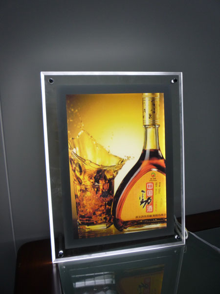 high quality led acrylic slim light box/acrylic crystal led panel light box wholesale