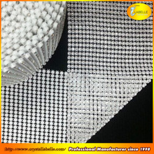 Wedding Party Supplies Wholesale Diamond Mesh Wrap Roll 10 YD Silver