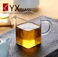 200ML hot sell fair square cup transparent heat-resistant glass tea sea