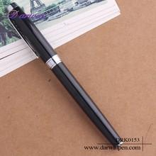 Custom logo factory price black metal pen ,metal fountain pen