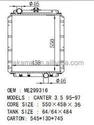 Auto Radiator For MITSUBISHI CANTER 3.5 MT OEM: MC127000/ME299316 CORE SIZE:550*458*36