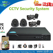 Low Cost Best Selling Home H.264 AHD DVR Kit 4pcs 720P CMOS CCTV Security Surveillance Camera Installation