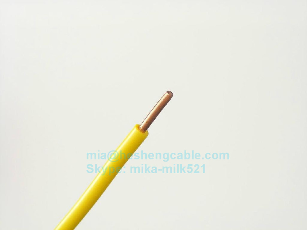 Geen Amp Yellow Single Core Cable : Green yellow earthing cable v solid stranded