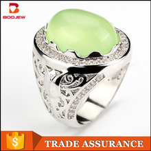 Newest design bezel setting big stone 925 sterling silver CZ men ring jewelry hot sale silver rings for men