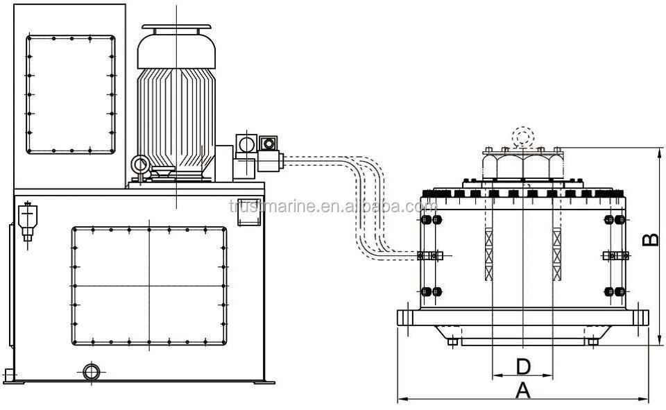china high quality electro hydraulic type rotary vane marine steering gear  view rotary vane
