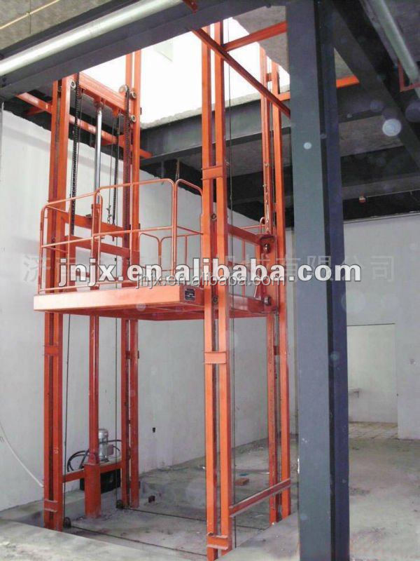 Hydraulic Material Lift : Outdoor hydraulic material lift elevator workshop used