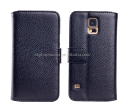 Black Fashion Luxury Wallet Cover Cell Phone PU Leather Case For Samsung Mobile Phone Case