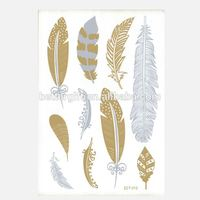 Embroidery Pen Gold And Sliver Flash Tattoo Metallic Tattoo Stickers