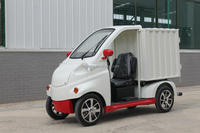 pure white low speed new type electric delivery truck
