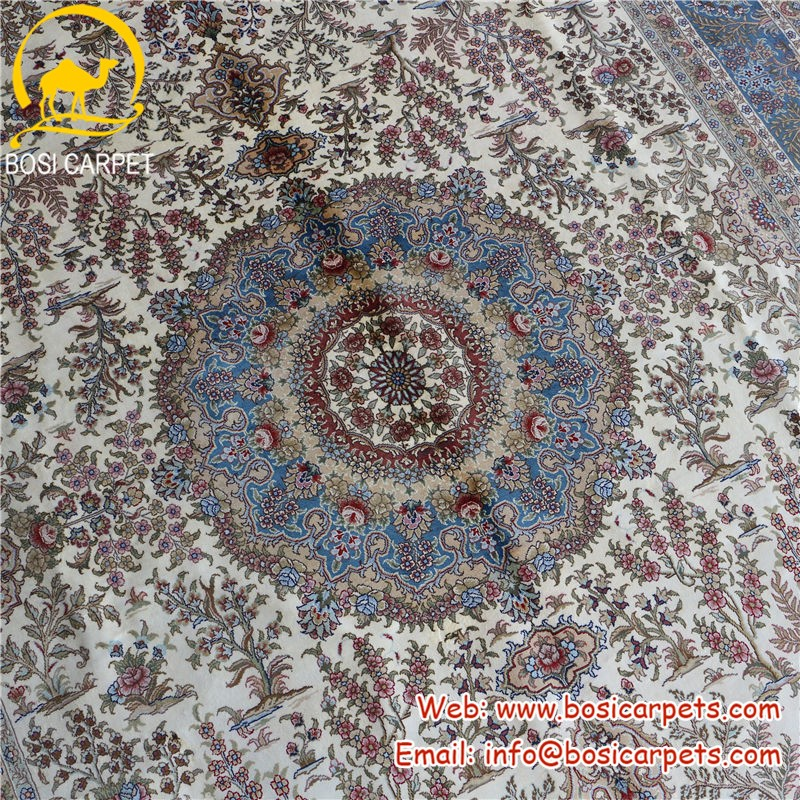 Henan Bosi 6x9ft tappeto turco medallion oriental mano di seta ...