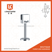 chrome glass Handrails mounting brackets supporting foot