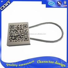 Nickel Plating laser QR code keychain/Key Ring