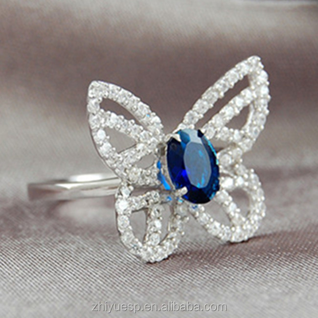 butterfly design sapphire fashion gemstone ring view