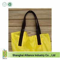 Parachute Bag Upcycled Eco Friendly Yellow Parachute Market Bag