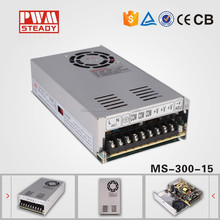 Steady CE approved MS-300-15 15vdc 20a led driver ac-dc 300w 15v switching model power supply