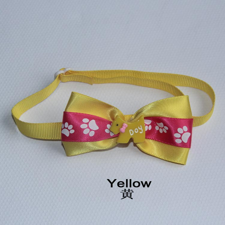 V1004 Fashion Love Design Pink White Color Pet Bow Tie Cat and Dog Collar Elegant Drop Shipping