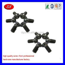customized black M head steel screw cross screw ,small flat head screw for electric spare part