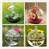 2015 New Fashional hanging glass vases, air plant glass terrarium, decorative hanging glass vases for flowers