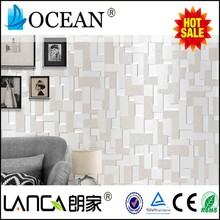 charm waterproof silver stones foaming non woven oriental wallpaper for home
