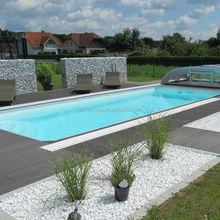 anti-slip wpc outdoor swimming pool flooring