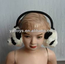 funny ear covers with panda head ,adjustable ear covers