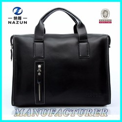 China Newest Cow Leather Fashion Business Men's Leather Bags