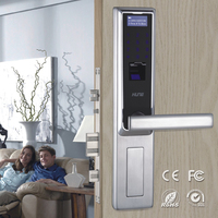 latest style password intelligent panke fingerprint door lock