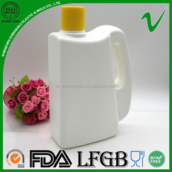 packaging rectangular hdpe plastic liquid detergent bottle 1000ml for household using