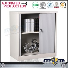 Metal furniture lockable metal knock down storage roller shutter cabinet