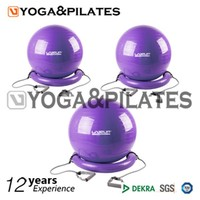 colorful fitness gym ball with base and expander