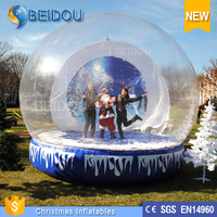 PVC Giant Inflatable Photo Human Snow Globe For Sale