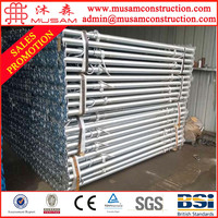 Heavy duty adjustable steel prop scaffold for construction support