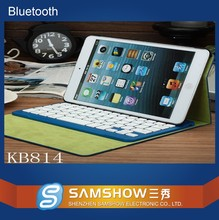 Wholesale 2015 Wireless Leather Removable Bluetooth Keyboard Case for Ipad Mini P048