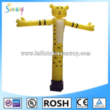yellow tiger inflatable air dancer, sky dancer for advertising