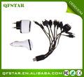 el comercio de aseguramiento de la célula teléfono 10 en 1 cable universal usb cargador de celular accesorios para el teléfono móvil