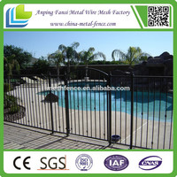 Dupont powder coated Flat top home wrought iron fence for sale