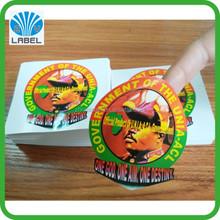high quality customized printing permanent vinyl decal sticker