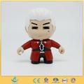cabelo branco velho com o casaco vermelho de plástico popular boneca boneca cartoon