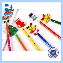 lovely cartoon pencil with the shape in 12 animals