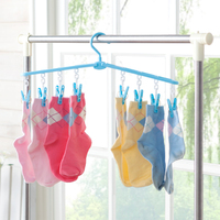 Expandable and Folding Plastic PP Clothes and Socks Hanger