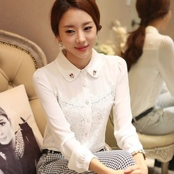 C64914A summer style office lady shirts for ladies