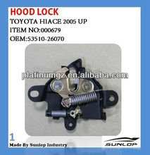 toyota hiace parts 53510-26070 toyota hiace hood lock for hiace van 2005 up commuter KDH 200 #000679