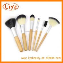 Profession 6pcs wood handle make up brush with nylon hair free sample