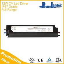 IP67 Grade 12W 12V Constant Voltage Led Driver with CE Certificate