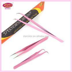 Pink Eyebrow Tweezer.Professional Eyebrow Tweezer