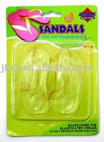 2015 plastic car air freshener sandals summer shoe shape, lemon scent, any scent is weclomed