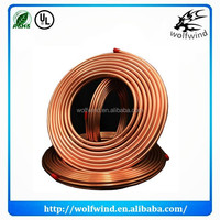 copper fin tube coil , 8mm copper pipe , pvc coated copper tube