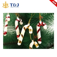 7 cm christmas gift small cane hanging wall christmas trees decorative